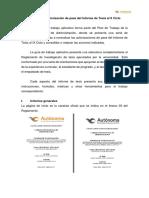 Guía Para La Autorización de Pase Del Informe de Tesis