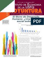 El Bono de Desarrollo Humano
