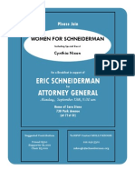 Women for Schneiderman Invitation