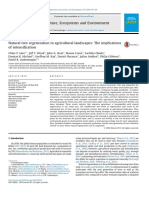 Natural Tree Regeneration in Agricultural Landscapes the Implications of Intensification