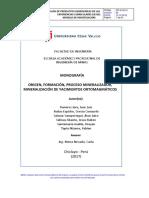 Informe de Yacimientos Ortomagmaticos