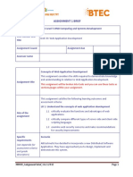 Web Application Development-Assignment Brief 1