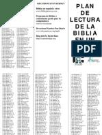 Brochure de lectura Bíblica