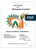 Report of Hostel Management System