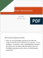 4.2 Binomial Distributions
