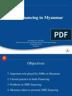 SME Financing in Myanmar (8 September 2013)