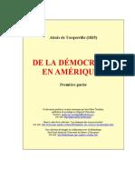 Tocqueville - De La Democratie en Amerique - T01