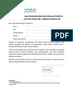 Surat Pernyataan Pengunduran Diri Sebagai Peserta Apbn