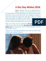 25+ Sweet Kiss Day wishes 2018
