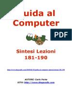 Guida al Computer - Sintesi Lezioni 181-190