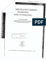 Rock Mechnics Design in Mining & Tunnelling