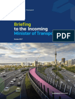 Ministry of Transport Briefing to Incoming Minister