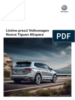 Listino Prezzi Volkswagen Nuova Tiguan Allspace 170907