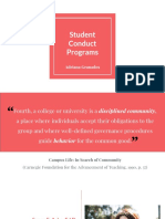 student conduct programs