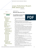 Situation Reaction Test - Indian Service Selection Board - SSB Interview
