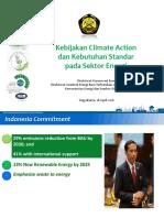 160418 Kebijakan Climate Action Dan Kebutuhan Standar Sektor Energy Jogja