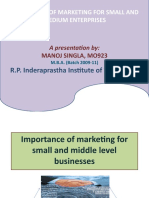 ppt on Importance of Marketing for SME's by manoj singla