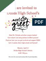 meet and greet invitation