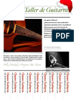 Aviso Taller de Guitarra