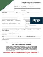 Sample Request Order Form
