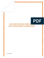 Securitization Simplified for Homeowner Borrowers