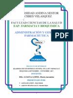 farmacia y bioquimica UNIVERSIDAD  ANDINA NESTOR CECERES VELASQUEZ 2017