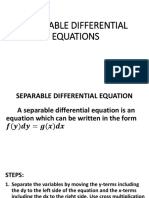Separable Differential Equation