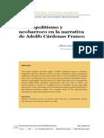 Cosmopolitismo y Neobarroco en La Narrativa de Adolfo Cárdenas
