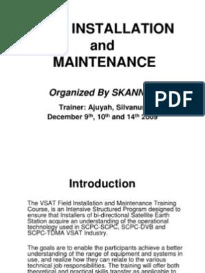 VSAT Installation and Maintenance Training_Version_1