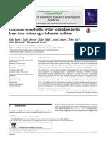 Utilization of Aspergillus Oryzae to Produce p 2014 Journal of Radiation Res