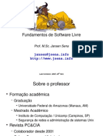 Fundamentos Software Livre Jansen Sena