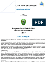 3. English for Engineer (Public Transportation)