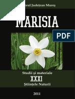 31 MARISIA Studii Si Materiale XXXI Stiintele Naturii 2011