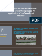 Presentation on The Recreational use of the Hatirjheel project- An application of the Travel cost Method.pptx