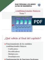 Tema7 - Módulos Combinacionales Básicos