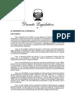 Dec Leg transfiere administración y pago pensiones Caja Militar (MEF)