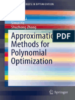 Approximation Methods for Polynomial Optimization_ Models, Algorithms, And Applications [Li, He & Zhang 2012-07-24]