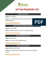 Faridabad Top Hospitals List