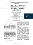 AN ANALYTICAL STUDY ON COMBINED STEGNO AND CRYPTOGRAPHY SECURITY ALGORITHMS