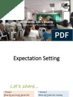 Expectation Sitting