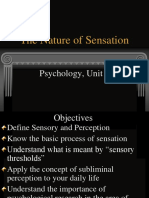 1. the Nature of Sensation