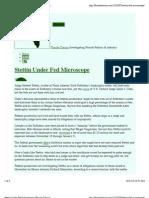 Stettin Under Fed Microscope - Florida Clarion
