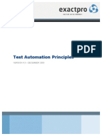 Test Automation Principles
