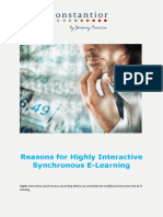 Reasons for Highly Interactive Synchronous E-Learning