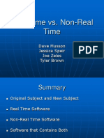 Real Time vs. Non-real Time