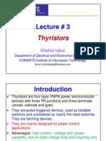Lecture # 3 (Thyristors)