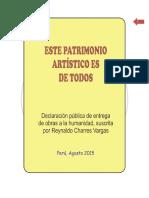 ESTE PATRIMONIO ARTÍSTICO ES DE TODOS