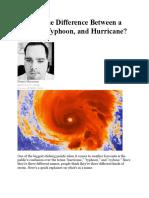 Cyclone Typhoon Hurricane
