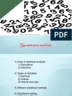 Quantitative Statistics