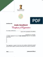 Format of Certificate